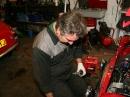 Andy making Adjustments.